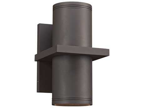 PLC Lighting Boardwalk-III Bronze Two-Light LED Outdoor Wall Light