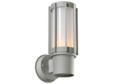 PLC Lighting Nauta Silver Fluorescent-GU24 Outdoor Wall Light (Sold in 2)