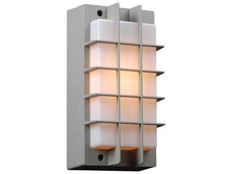 PLC Lighting Lorca Silver Fluorescent-Quad13 Outdoor Wall Light (Sold in 2)