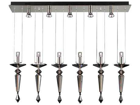 PLC Lighting Lamore Polished Chrome 44'' Wide 11-Light Island Light