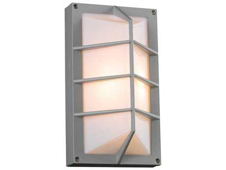 PLC Lighting Expo Silver Fluorescent-Quad13 Outdoor Wall Light (Sold in 2)
