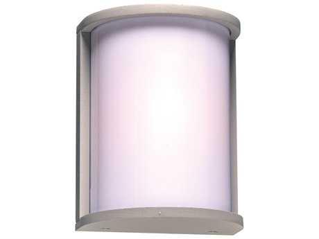 PLC Lighting Lukas Silver Fluorescent-GU24 Outdoor Wall Light (Sold in 2)