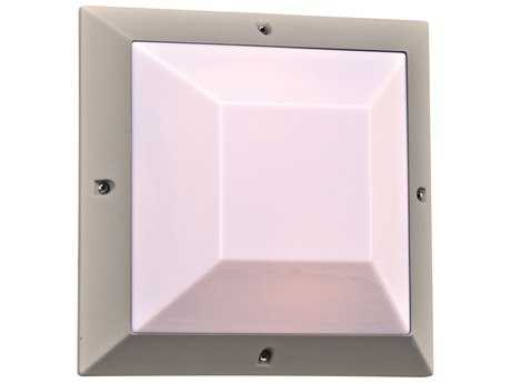 PLC Lighting Harrison Silver Fluorescent-GU24 Outdoor Ceiling & Wall Light (Sold in 2)