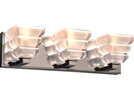 PLC Lighting Titan Polished Chrome Three-Light Incandescent Wall Sconce