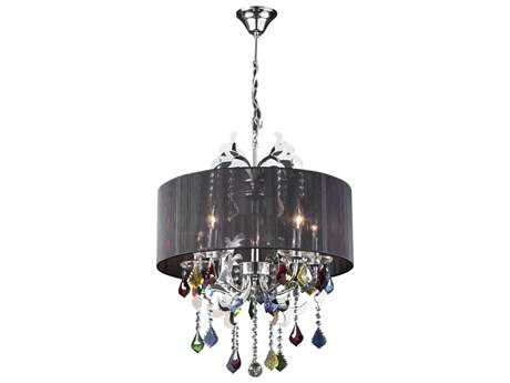 PLC Lighting Torcello Polished Chrome 22'' Wide Five-Light Incandescent Chandelier