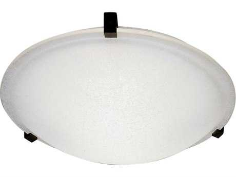 PLC Lighting Nuova 20'' Wide Two-Light Fluorescent-GU24 Flush Mount Light