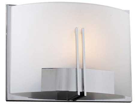 PLC Lighting Portman Polished Chrome Fluorescent-Quad13 Wall Sconce
