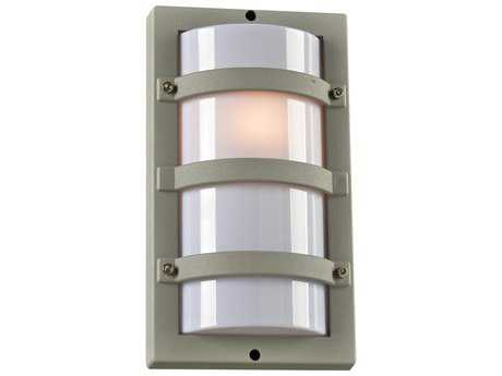 PLC Lighting SPA Silver Fluorescent-PL18 Outdoor Wall Light (Sold in 2)