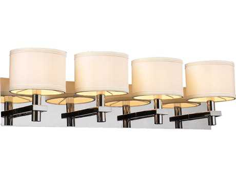 PLC Lighting Concerto Polished Chrome Four-Light Vanity Light