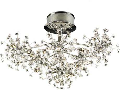PLC Lighting Firework Polished Chrome 26'' Wide 36-Light Semi-Flush Mount Light