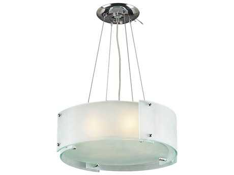 PLC Lighting Logan Polished Chrome 20'' Wide Two-Light Fluorescent-Quad26 Pendant