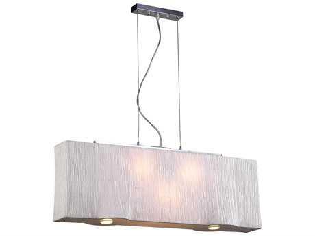 PLC Lighting Leona Ivory 36'' Wide Five-Light Incandescent Island Light