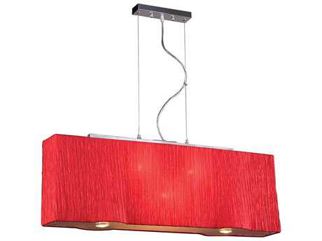 PLC Lighting Leona Red 36'' Wide Five-Light Incandescent Island Light