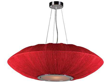 PLC Lighting Mars Red 34'' Wide Four-Light Incandescent Pendant