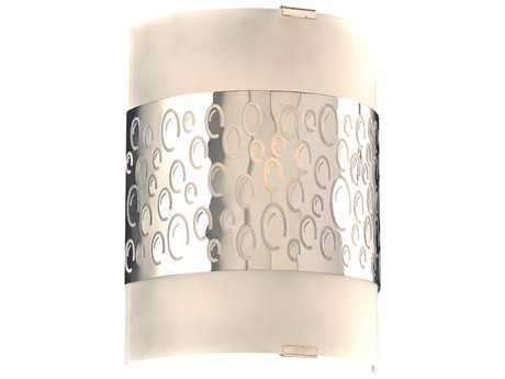 PLC Lighting Clifton Polished Chrome Fluorescent-GU24 Vanity Light