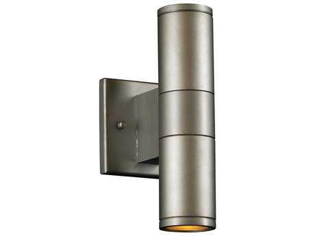 PLC Lighting Troll-II Aluminum Two-Light Fluorescent-GU24 Outdoor Wall Light