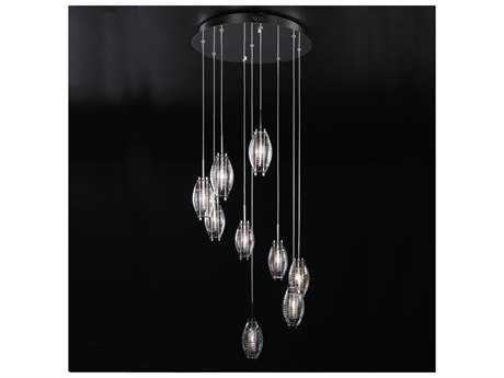 PLC Lighting Wrap Polished Chrome 20'' Wide Nine-Light Halogen Pendant