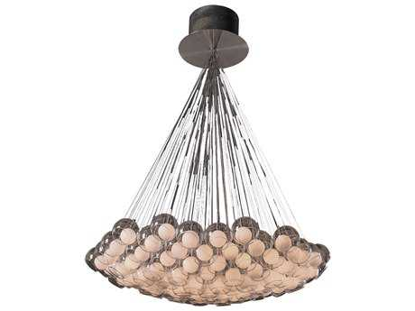 PLC Lighting Hydrogen Satin Nickel 68'' Wide 85-Light Grand Chandelier