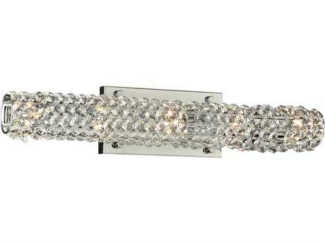 PLC Lighting Piattini Polished Chrome Five-Light Halogen Vanity Light