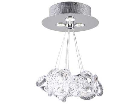 PLC Lighting Elegance Polished Chrome 11'' Wide Three-Light Pendant