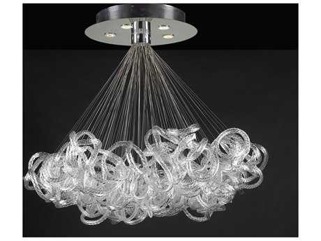 PLC Lighting Elegance Polished Chrome 40'' Wide Five-Light Chandelier
