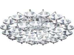 PLC Lighting Diamente Polished Chrome 27'' Wide 12-Light Flush Mount Light