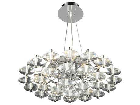 PLC Lighting Diamente Polished Chrome 27'' Wide 12-Light Chandelier