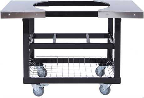 Primo Cart with Basket w/SS Side Shelves for Oval LG 300 & XL 400 PatioLiving