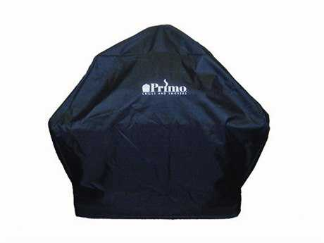 Primo Grill Cover Oval XL 400 with Teak Table (603) Grill Cover Oval LG 300 with Teak Table (615)