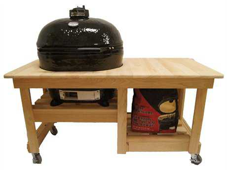 Primo Oval (400) XL Ceramic Smoker in Cypress Table Top PatioLiving