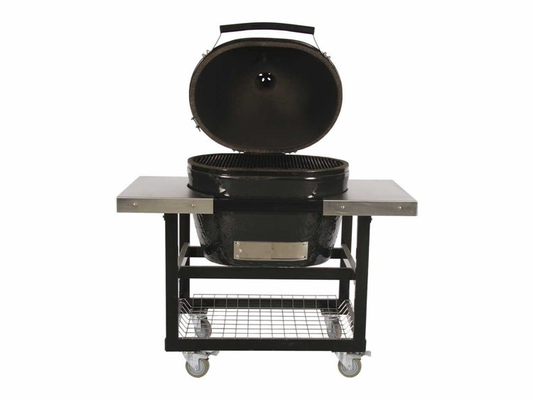 Primo Grills Jack Daniels Oval (400) XL in Stainless Steel Cart