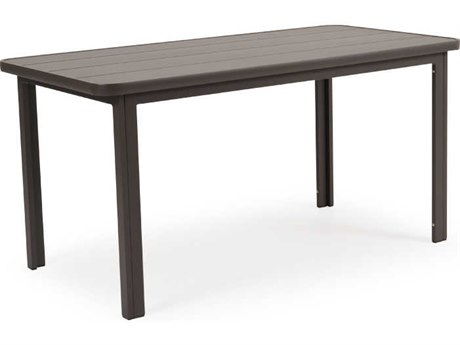 Palm Springs Rattan 0100 Series Aluminum 60 x 29 Rectangular Dining Table
