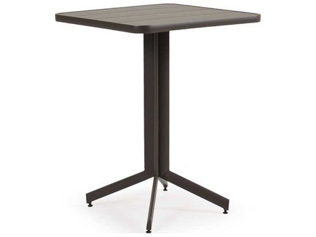 Palm Springs Rattan 0100 Series Aluminum 29.25 Square Pedastal Bar Table