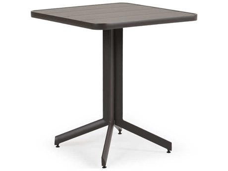 Palm Springs Rattan 0100 Series Aluminum 29.25 Square Pedastal Counter Table