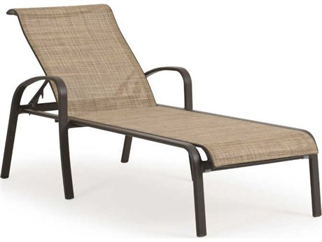 Palm Springs Rattan Sandoval Aluminum Sling Adjustable Chaise Lounge