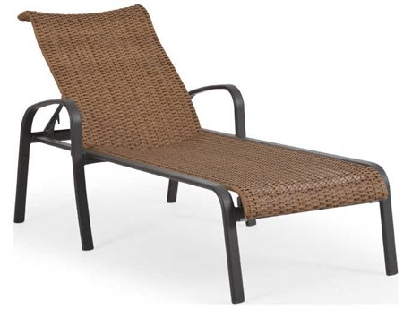 Palm Springs Rattan Sandoval Aluminum Wicker Adjustable Chaise Lounge