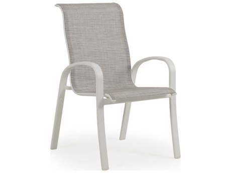 Palm Springs Rattan Sandoval Aluminum Sling Dining Arm Chair