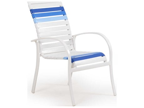 Palm Springs Rattan Pacifica Aluminum Dining Arm Chair