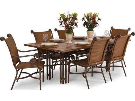 Palm Springs Rattan Aluminum 2400 Series Dining Set