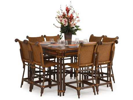Palm Springs Rattan Aluminum 2400 Series Counter Set PS2400SET6
