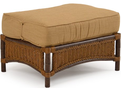 Palm Springs Rattan Aluminum 2400 Series Ottoman with Cushion