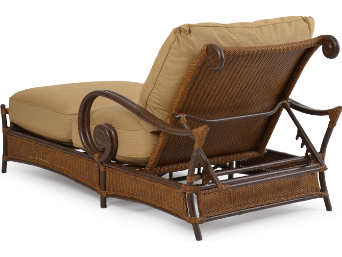 Palm springs rattan aluminum 2400 series chaise and a half for Chaise serie 7