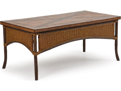Palm Springs Rattan Aluminum 2400 Series 20 x 48 Rectangular Cocktail Table