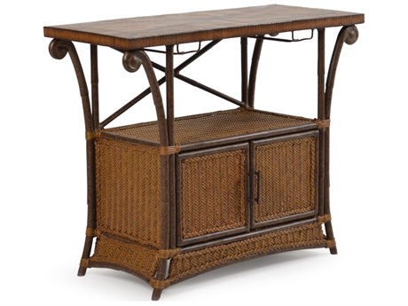 Palm Springs Rattan Aluminum 2400 Series 48 x 34 Rectangular Plasma TV Stand