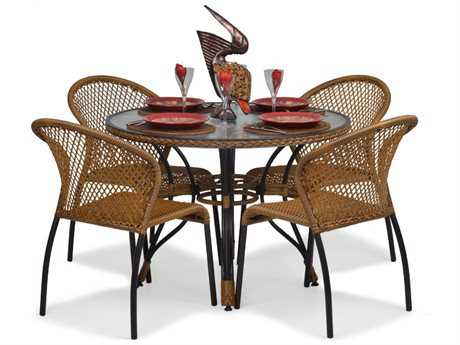 Palm Springs Rattan Aluminum 3200 Series Dining Set PS32001SET3