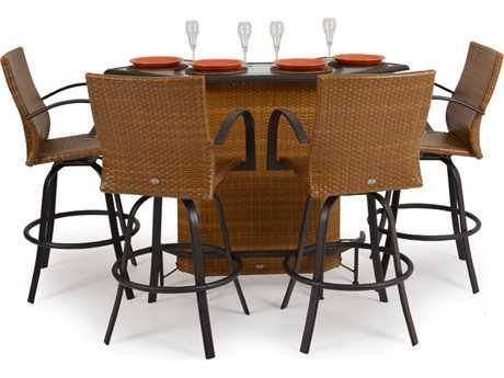 Palm Springs Rattan Aluminum 3200 Series Bar Set
