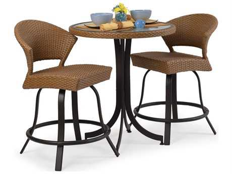 Palm Springs Rattan Aluminum 3200 Series Counter Height Set PS3200SET4