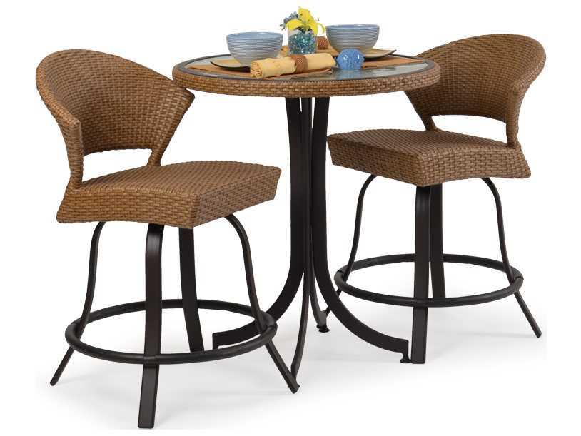 palm springs rattan aluminum 3200 series counter height set ps3200set4. Black Bedroom Furniture Sets. Home Design Ideas