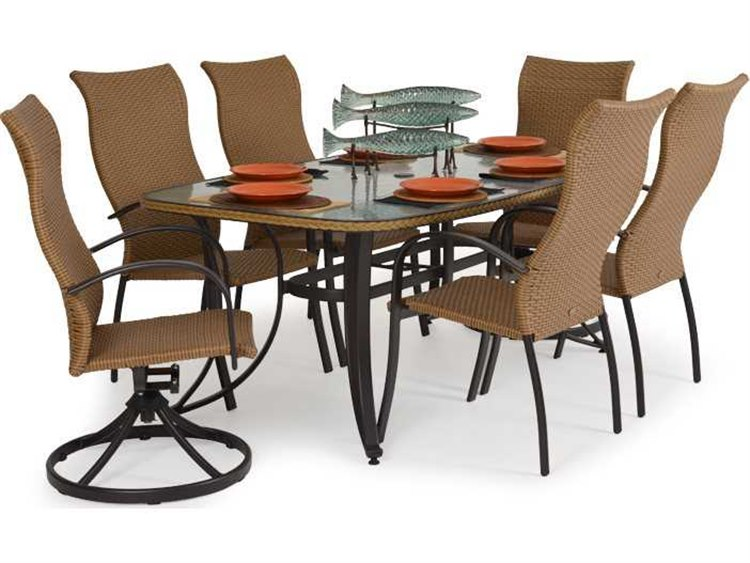 Palm Springs Rattan Aluminum 3200 Series Dining Set