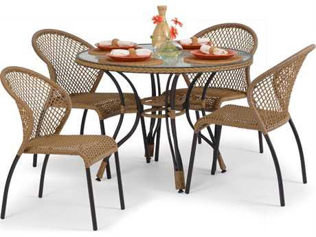 Palm Springs Rattan Aluminum 3200 Series Dining Set PatioLiving